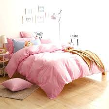 solid light pink bedding sheet set full comforters cotton sheets king queen size quilt duvet cover comforter ful