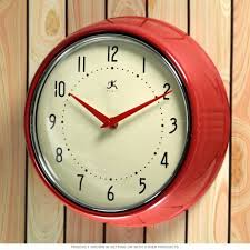 infinity instruments retro wall clock with wall clocks full image for 60 inch wall clock led