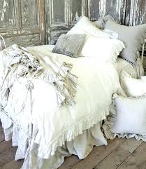 ruffle duvet cover white set waterfall king diy twin