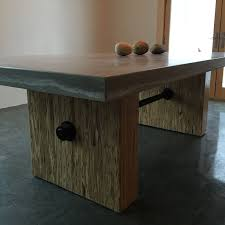 concrete and wood furniture. Custom Made Concrete, Steel \u0026 Wood Conference Table. Concrete And Furniture O