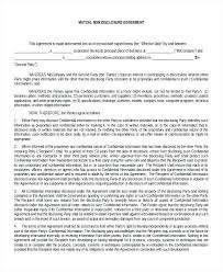 Nda Document Template Standard Non Disclosure Agreement Form Examples In Word Nda Template
