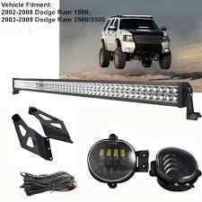 Dodge Ram Led Light Bar Roof Mount Us 195 72 16 Off Led Fog Lights W 50