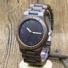 viking ebony walnut wooden watch