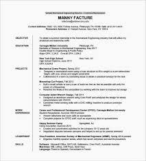Fresher Mechanical Engineer Resume Format Alanscrapleftbehind Latest