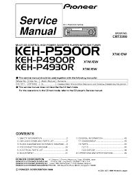 pioneer deh p4950mp service manual schematics pioneer