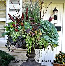 Fall Front Porch and Fabulous Urn Planter | Urn planters, Urn and Front  porches