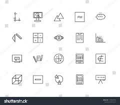 Set 20 Linear Icons Such Function Signs Symbols Stock Image