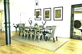 rug under round dining table area room jute placement