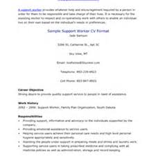 Sample Resume For Disability Support Worker Free Resume Example