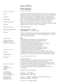 Web Developer Resume Example Cv Designer Template Development