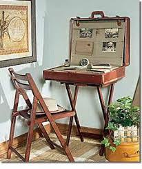 Fabulous repurposed suitcase desk. Unfortunately the