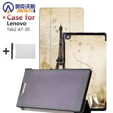 <b>Magnet Closure</b> Stand Leather Cover <b>Tablet</b> Case for Lenovo Tab 2 ...