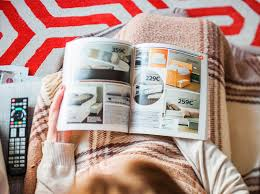 inspiration furniture catalog. Download Woman Reading IKEA Catalog Buying Bedroom Furniture Editorial Image - Of Catalog, Inspiration