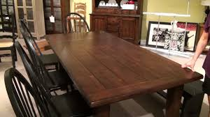 attic heirlooms rustic oak extension leg dining table by broyhill furniture home gallery s you