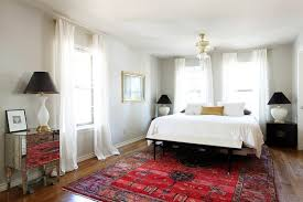 Black Lampshades And Oriental Rug