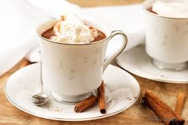 cup of hot chocolate. Plain Chocolate A Cup Of Hot Cocoa Garnished With Whipped Cream For Cup Of Hot Chocolate I