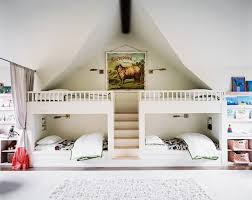white bedroom furniture for kids. Stunning Picture Of White Kid Shared Bedroom Decoration Design Using  Ikea Furniture Including Four Wood Loft Bed Frame And White Bedroom Furniture For Kids