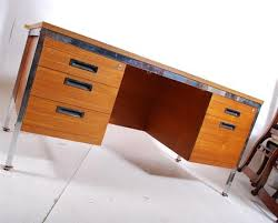 chrome office desk. a retro danish inspired 1970u0027s teak and chrome office desk by project dated to underside 1972 t