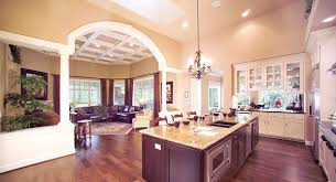 open floor plan homes. Modren Homes Kitchen And Great Room Share A Large Open Floor Plan On Open Floor Plan Homes B