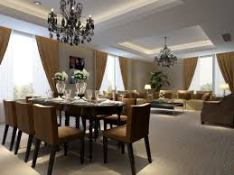 Living Dining Room Combo Decorating White Covered Leather Dining Chairs Dining Room And Living Room