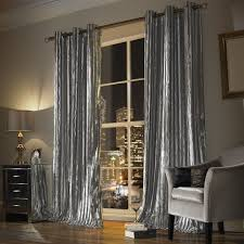 kylie minogue at home iliana eyelet curtains in silver