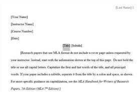 Example Template Of An Mla Research Paper