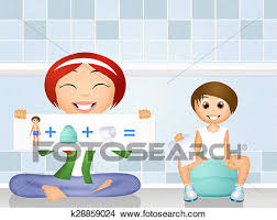 Drawings Of Potty Training K28859024 Search Clip Art Illustrations