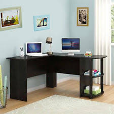 corner workstations for home office. Computer Desk L-Shaped Workstation With Side Storage Shelf Office Corner Table Workstations For Home