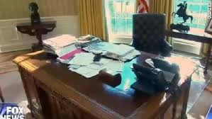 oval office desks. A Screengrab Of President Trump\u0026#39;s Desk In The Oval Office, As Office Desks