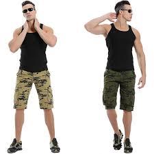 plus size overalls shorts mens cargo shorts fashion camouflage shorts leisure men plus size