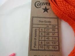 Nike Converse Size Chart New Nike Converse Kiwi Shoe Laces See Size Chart U Pick