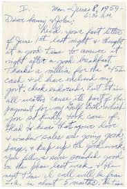 ralph eyde in a letter to sanford and john june 8 1959 6 30 a m