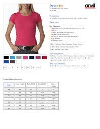 Anvil T Shirts Size Chart Anvil Baseball Tee Size Chart Toffee Art