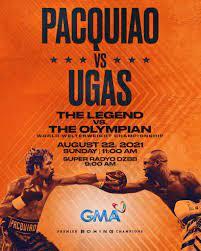 Catch 'Pacquiao vs. Ugas: The Legend vs ...