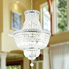 12 light chandelier french empire collection chrome finish and clear crystal brass