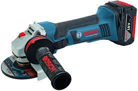 cordless grinder. bosch gws18v-45 cordless angle grinder d