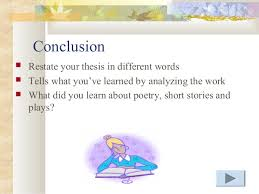short story literary analysis criteria 6 conclusion restate your thesis