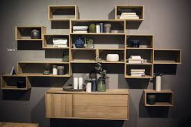wall shelving units. View In Gallery Repeating Wooden Modular Shelving Units Wall W