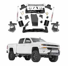 2014 gmc sierra lifted white. rough country 7 in suspension lift kit u0026 knuckle for 2014 gmc sierra lifted white