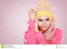Beautiful Woman Wearing Hijab Stock ...