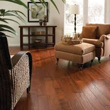 image brazilian cherry handscraped hardwood flooring. handscraped brazilian cherry natural lm flooring room scene showcase image hardwood