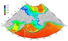 What Do The Colors Denote In A Bathymetric Chart Sounding The Northern Seas Eos