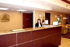 office front desk design design. Stylish And Comfortable Front Desk Design Of Best Western Oakland Airport Inn Suites Awesome Good Looking Woman Office