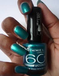The Sequined Nail Rimmel Green With Envy