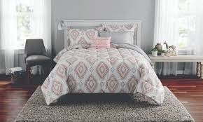 mainstays double diamond bed in a bag coordinating bedding set com