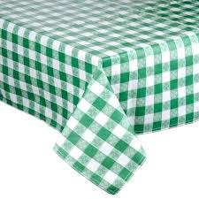 padded table cover tablecloth vinyl x green checkered with flannel back centerpiece covers r47