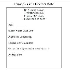 9 Doctor Note Templates Template Free For Work Maker Dr Notes 8 Word