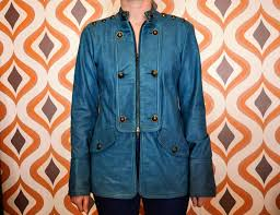 diane von fursternberg teal leather jacket