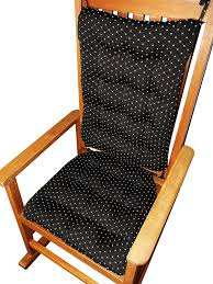 Amazon Com Rocking Chair Cushions Tiffanie Onyx Black Brocade
