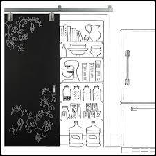 chalk paint sliding door to pantry